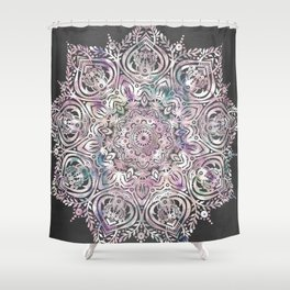 Dreams Mandala  Magical Purple on Gray Shower Curtain Lavender Curtains Society6
