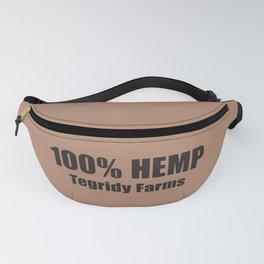 100% Hemp From Tegridy Farms Brown Fanny Pack
