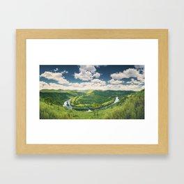 Pelotas Horseshoe Framed Art Print