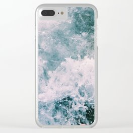 Beach Waves Crashing Clear iPhone Case