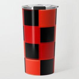 Red & Black Checkers : CheckerBoarD Travel Mug