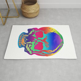 Psychedelic Pirate Skull Color Spectrum, Vibrant Skull, Super Smooth Super-Sharp 7200px x 7200px PNG Rug