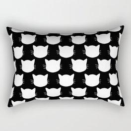 White Cat Pattern Rectangular Pillow