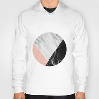 collage Hoodies featuring Marble Collage by cafelab