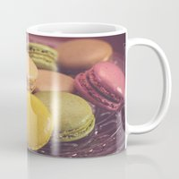 macaroons Mugs featuring French Macaroons by ELIZABETH THOMAS Photography of Cape Cod