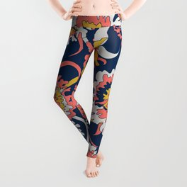 Bold Chinoiserie Floral - Limited Color Palette 2019 Leggings