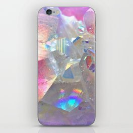 Rainbow Angel Aura Crystal iPhone Skin
