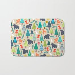 summer woodland Bath Mat
