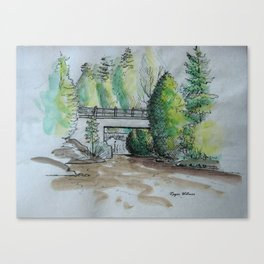 Rockwood Sketch Canvas Print