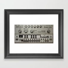 Roland TB303 acid bassline Framed Art Print