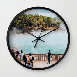 Don't Forget your Thermals   Rotorua, New Zealand Wall Clock