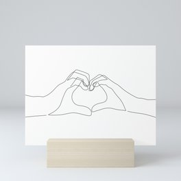 Hand Heart Mini Art Print