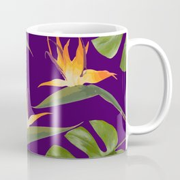 Monstera - and 3 Paradise Flowers Coffee Mug