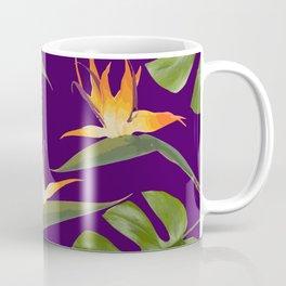 Monstera - and 3 Paradise Flowers Coffee Mug