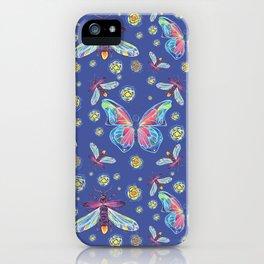Butterflies and Fireflies iPhone Case