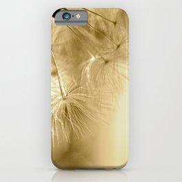 Diana's Dandelion Sepia iPhone Case