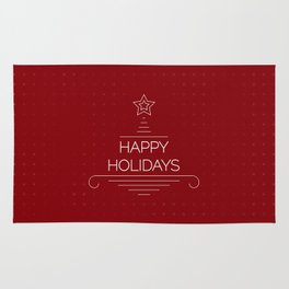 Happy Holidays Rug