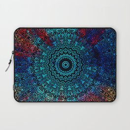 Bohemian Passion Blue & Red Mandala Design Laptop Sleeve