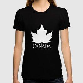 Cute Canada Flag Pattern T-shirt