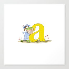 a is for apples Canvas Print