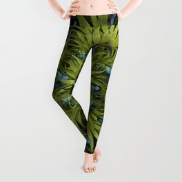 """El Bosco fantasy, tropical island blue butterflies"" Leggings"