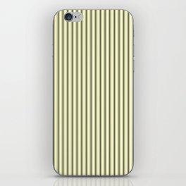 Mattress Ticking Narrow Striped Pattern in Dark Black and Cream iPhone Skin