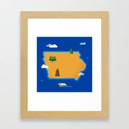 Iowa Island Framed Art Print