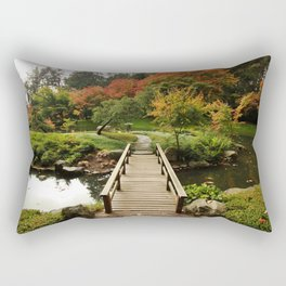Bridge to Happiness, Autumn Rectangular Pillow