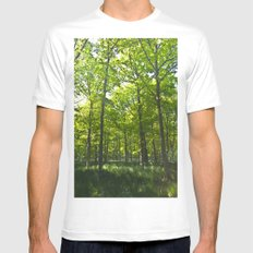Peaceful Forest Mens Fitted Tee MEDIUM White