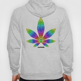 Rainbow Gems Cannabis Leaf Hoody