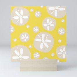 Sand Dollar Yellow and Tan Mini Art Print
