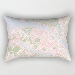 Copenhagen map vintage Rectangular Pillow