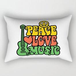 Reggae Peace Love and Music Rectangular Pillow