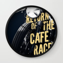 Return of the cafe racer Wall Clock