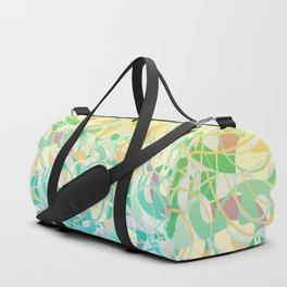 Summer Beach Days Abstract -  Yellows And Blues Duffle Bag