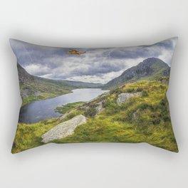 Snowdonia Helicopter Mountain Resuce Rectangular Pillow