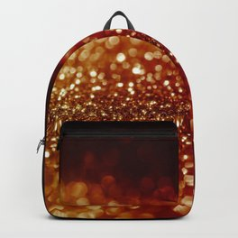 Fire and flames - Red and yellow glitter effect texture Backpack