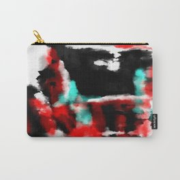 Lukewarm - Abstract, original painting in red, blue, black and white Carry-All Pouch