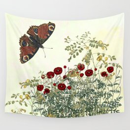 Shaking the wainscot where the field mouse trots Wall Tapestry