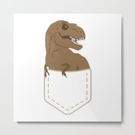 Dino # Metal Print