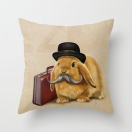Commuter Bunny Throw Pillow