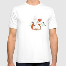 Fox in the mountain Mens Fitted Tee White SMALL