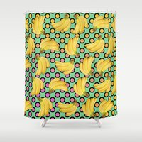 banana Shower Curtains featuring banana by mark ashkenazi