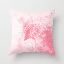spotted madagascar fody wspw Throw Pillow