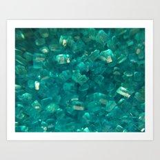 Blue Sugar Crystals Art Print