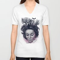 laura palmer V-neck T-shirts featuring Laura by Jorge Garza