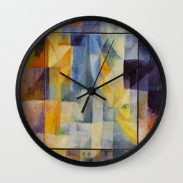 "Robert Delaunay ""Simultaneous Windows onto the City"" (1st Part, 2nd Motif, 1st Replica) Wall Clock"