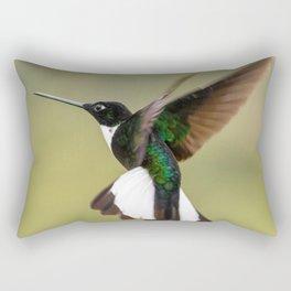 Collared Inca Hummingbird Aerial Rectangular Pillow