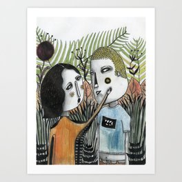 Love in Forest Art Print
