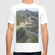 Thousand Miles MEDIUM Mens Fitted Tee White